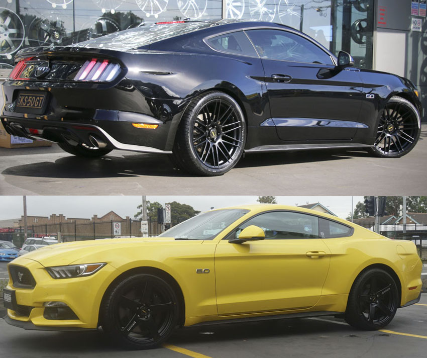 Black Mustang Silvers: Ford Mustang Wheels And Rims