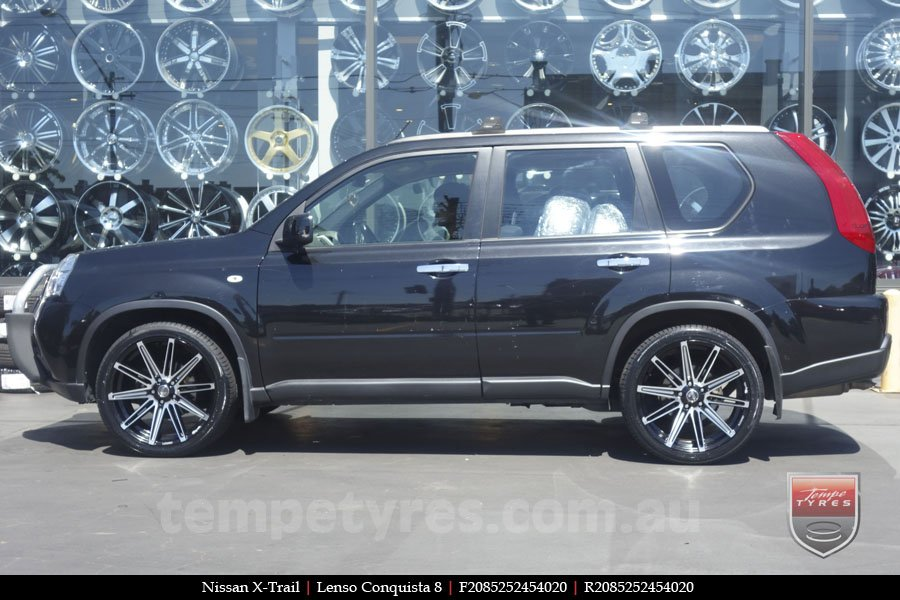 20x8.5 20x9.5 Lenso Conquista 8 CQ8 on NISSAN X-TRAIL