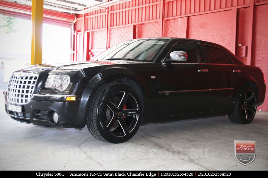 20x8.5 20x10 Simmons FR-CS Satin Black on CHRYSLER 300C