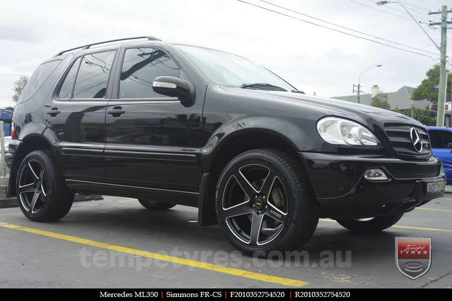 20x8.5 20x10 Simmons FR-CS Satin Black on MERCEDES ML CLASS