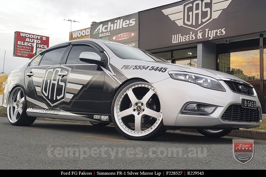 22x8.5 22x9.5 Simmons FR-1 Silver on FORD FALCON FG