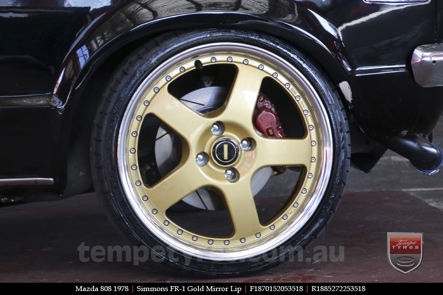 18x8.5 18x9.5 Simmons FR-1 Gold on MAZDA 808