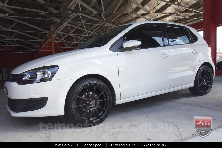 17x7.5 Lenso Spec F MB on VW POLO