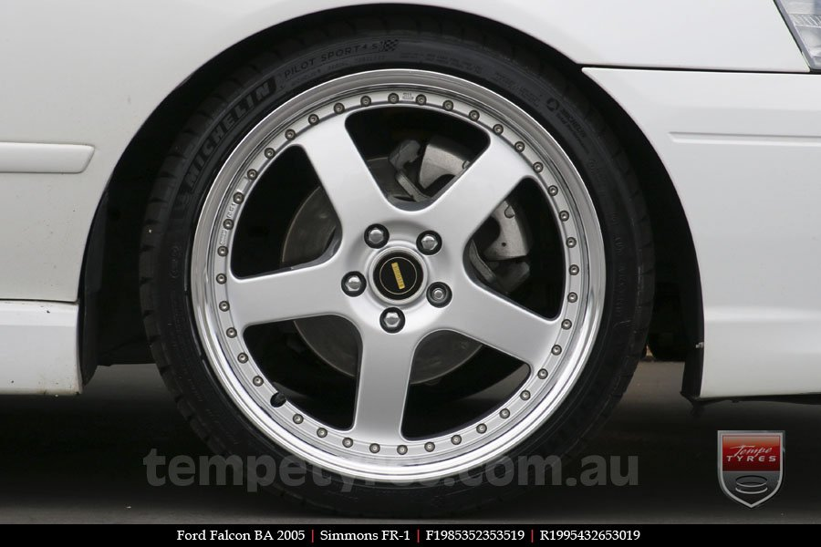 19x8.5 19x9.5 Simmons FR-1 Silver on FORD FALCON