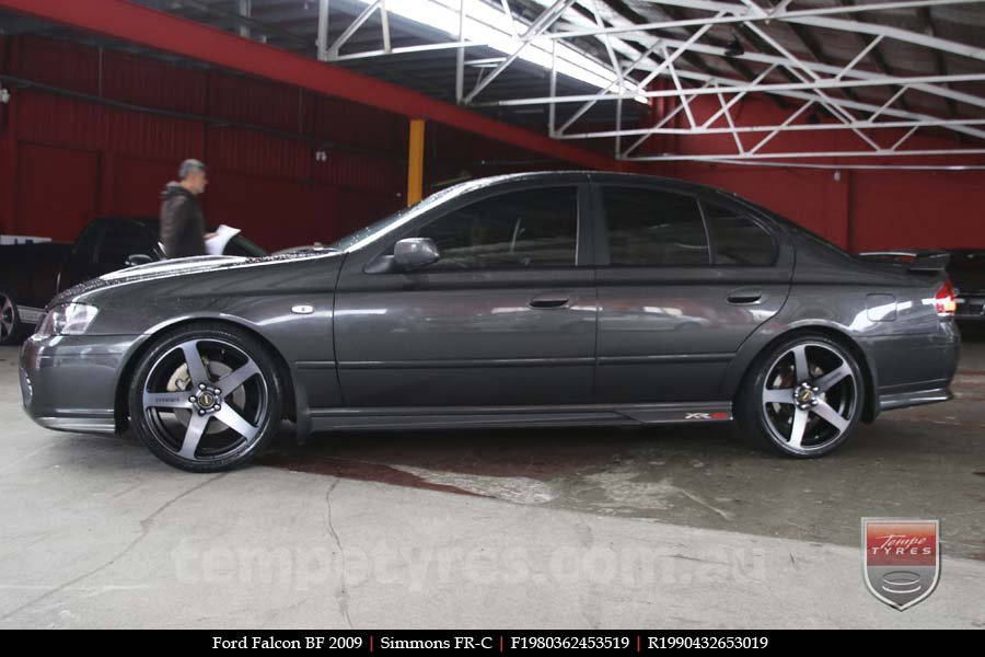 19x8.0 19x9.0 Simmons FR-C Black Tint NCT on FORD FALCON