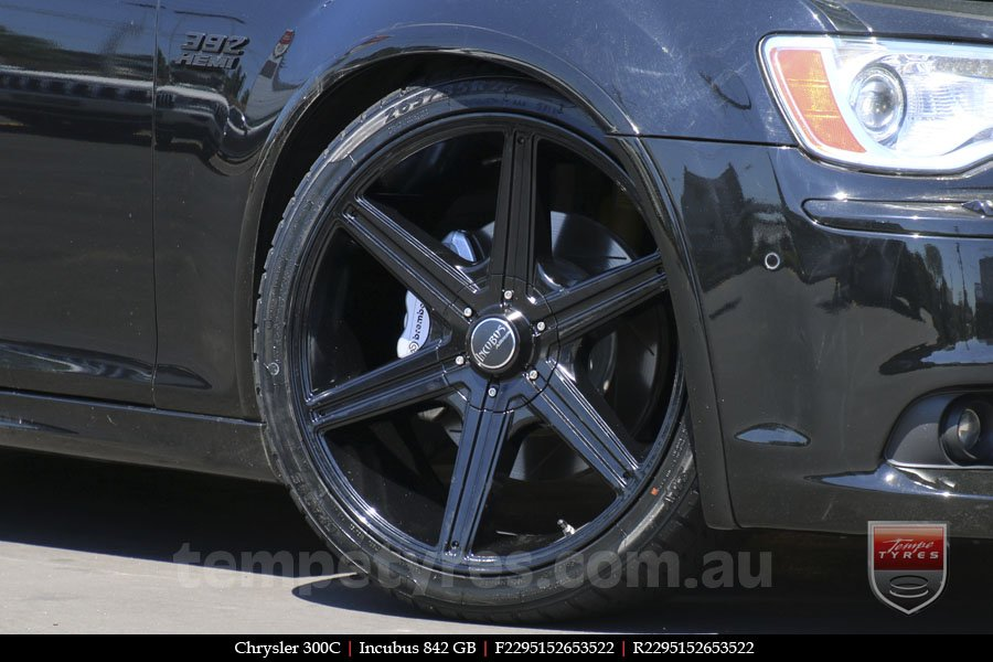 22x9.5 Incubus 842 GB on CHRYSLER 300C
