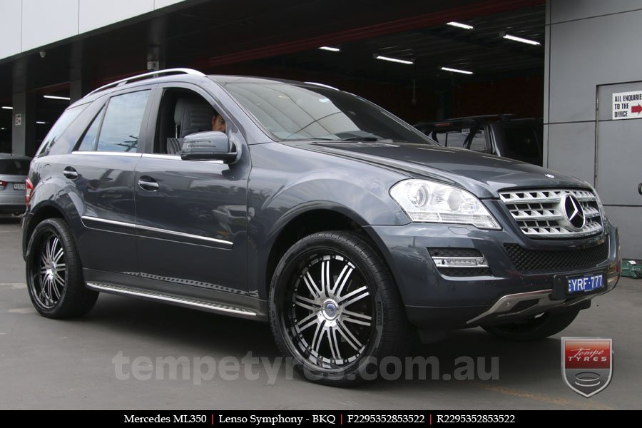 22x9.5 Lenso Symphony - BKQ on MERCEDES ML CLASS