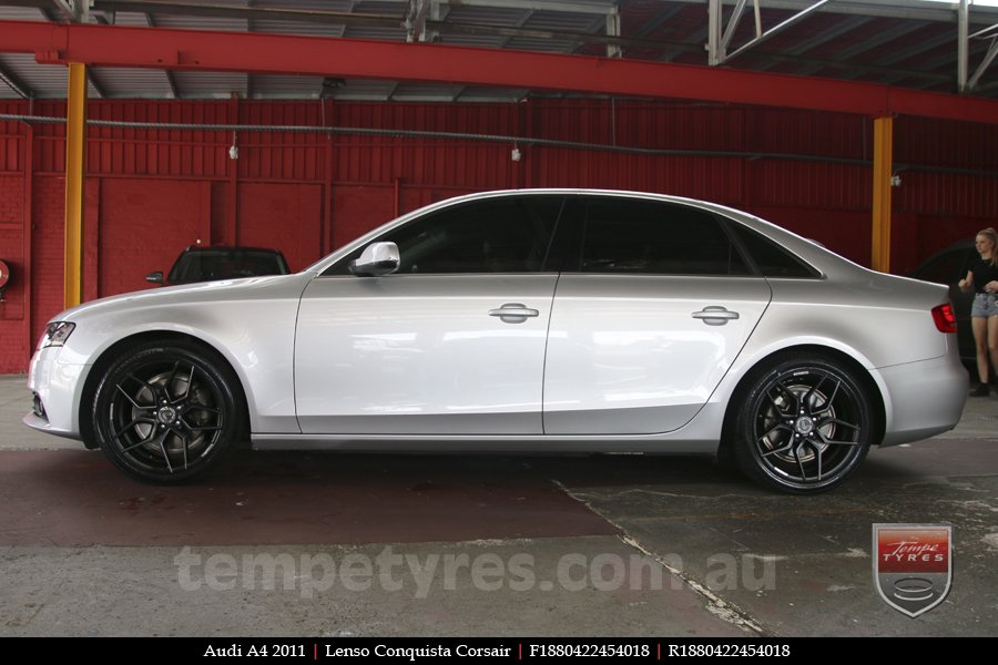 18x8.0 Lenso Conquista Corsair CQC on AUDI A4