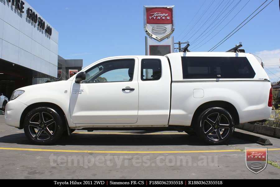 18x8.0 18x9.0 Simmons FR-CS Matte Black Chamfer Edge on TOYOTA HILUX 2WD