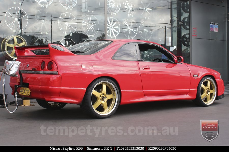 20x8.5 20x9.5 Simmons FR-1 Gold on NISSAN SKYLINE