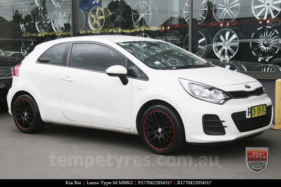 17x7.0 Lenso Type-M - MBRG on KIA RIO