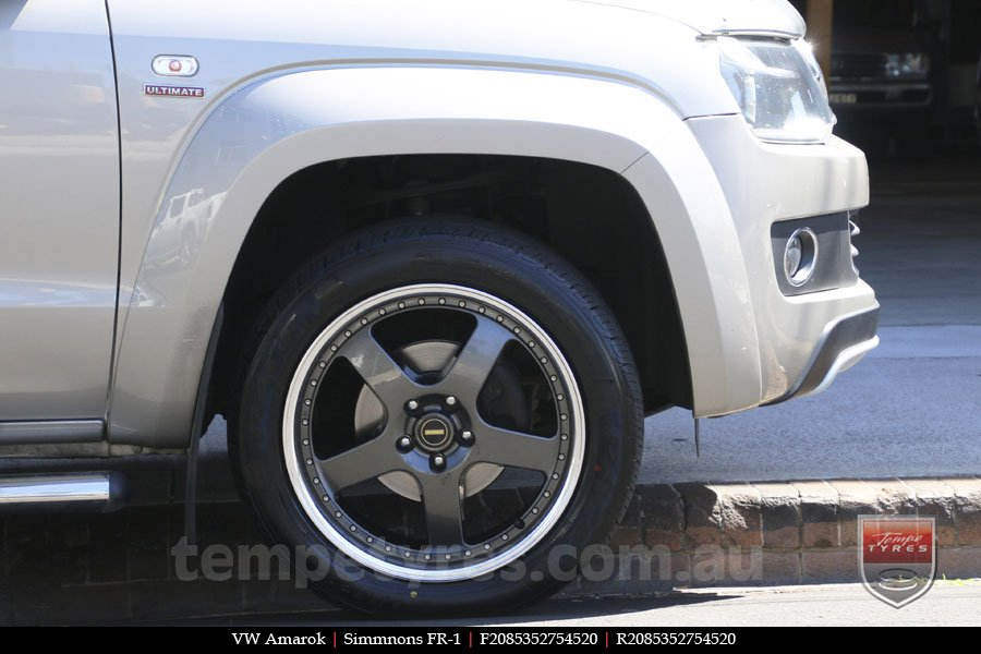 20x8.5 20x9.5 Simmons FR-1 Hyper Dark on VW AMAROK