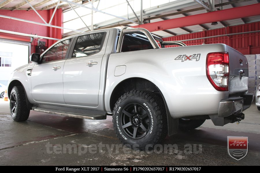 17x9.0 Simmons S6 Matte Black on FORD RANGER