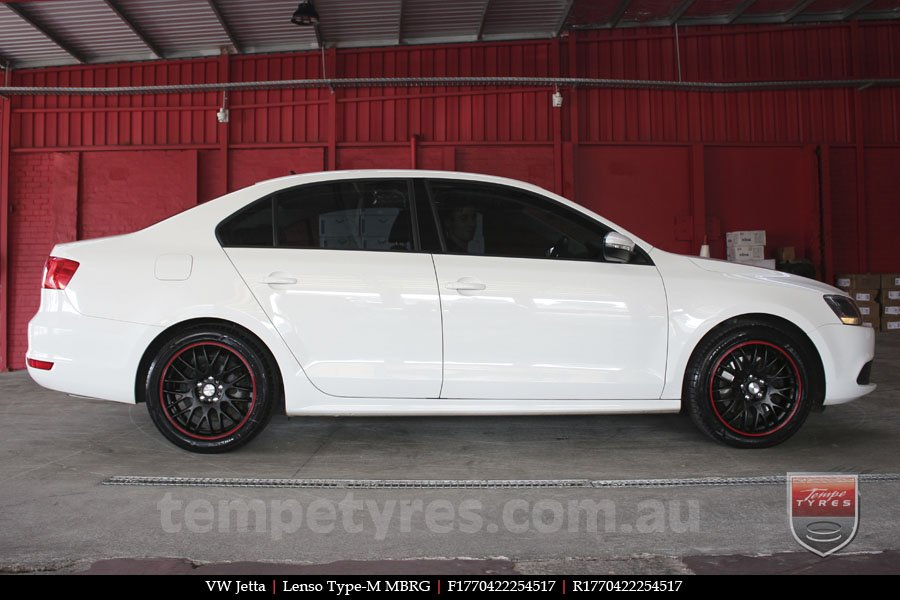 17x7.0 Lenso Type-M - MBRG on VW JETTA