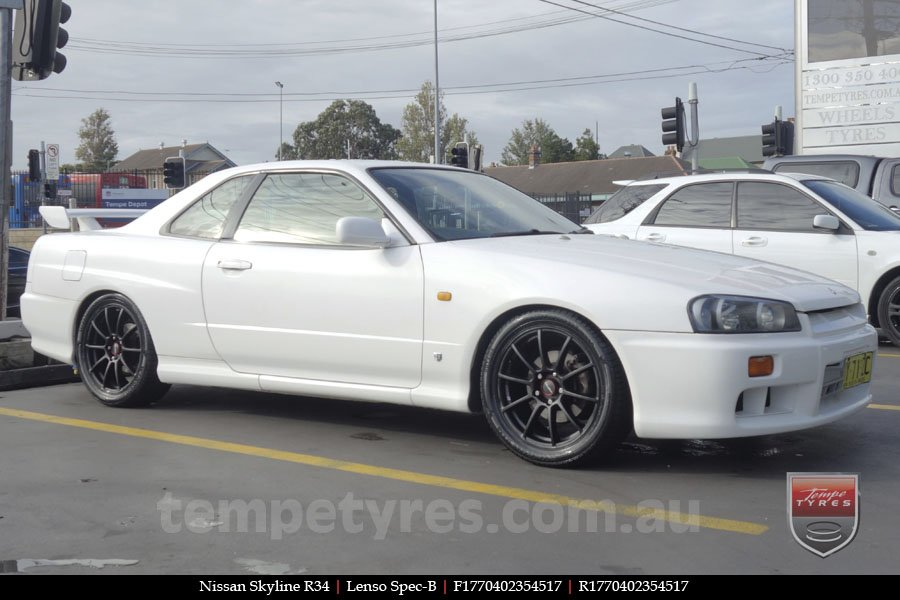 17x7.0 Lenso Spec B MB on NISSAN SKYLINE
