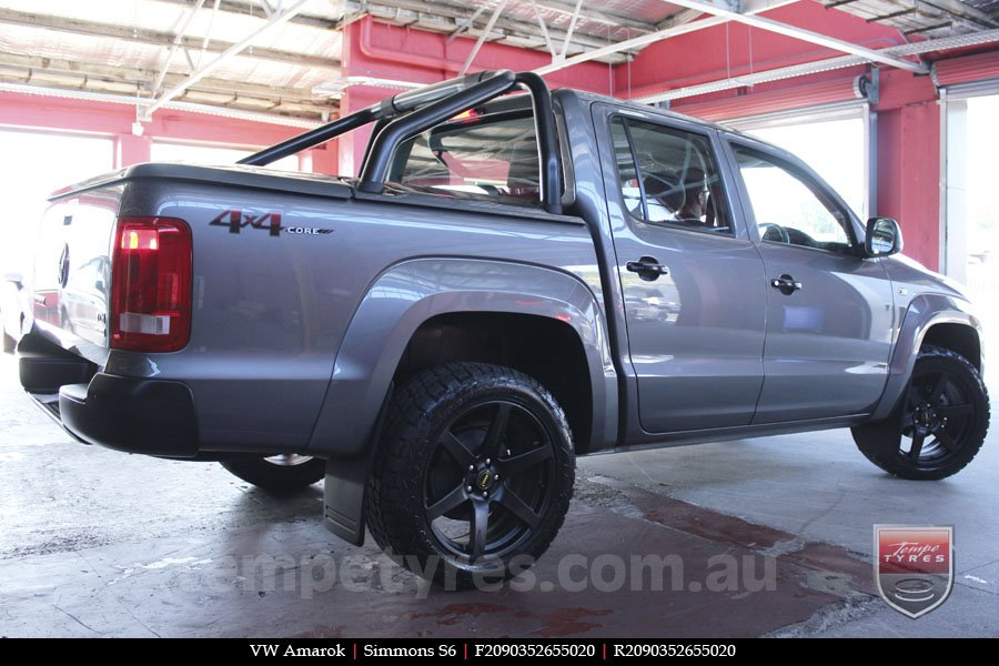 20x9.0 Simmons S6 Matte Black on VW AMAROK