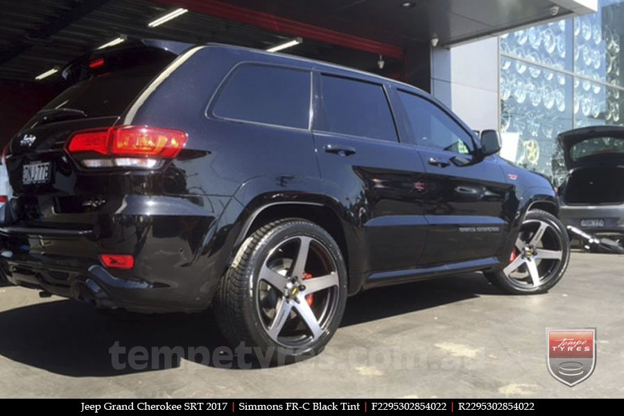 22x9.5 Simmons FR-C Black Tint on JEEP GRAND CHEROKEE