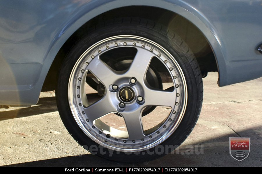 17x7.0 17x8.5 Simmons FR-1 Silver on FORD CORTINA
