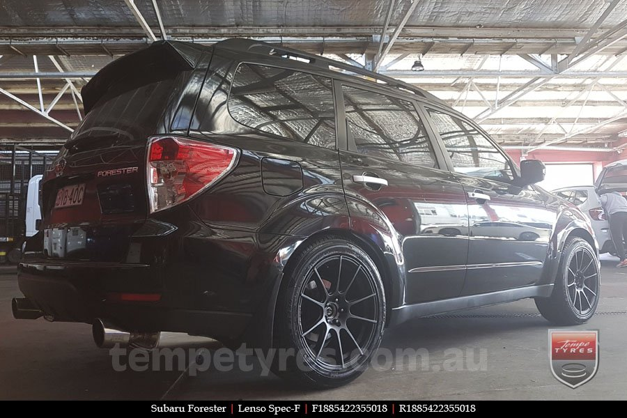 18x8.5 Lenso Spec F MB on SUBARU FORESTER