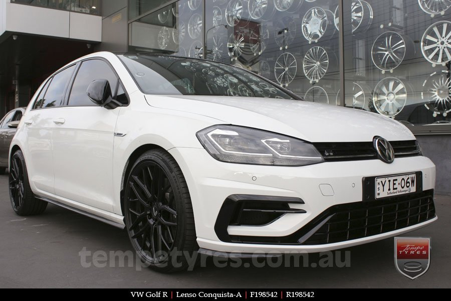 19x8.5 19x9.5 Lenso Conquista A CQA MK  on VW GOLF R