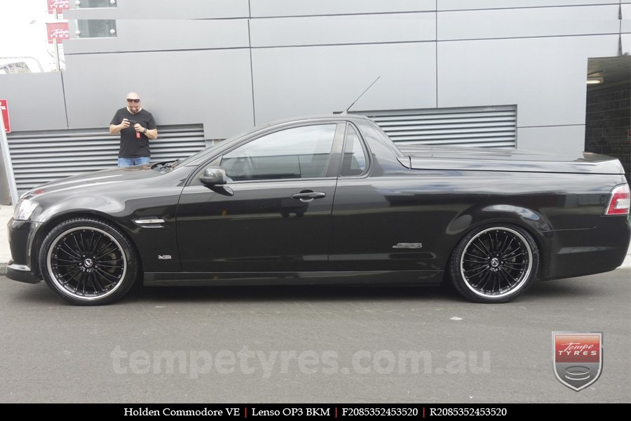 20x8.5 20x9.5 Lenso OP3 BKM on HOLDEN COMMODORE VE