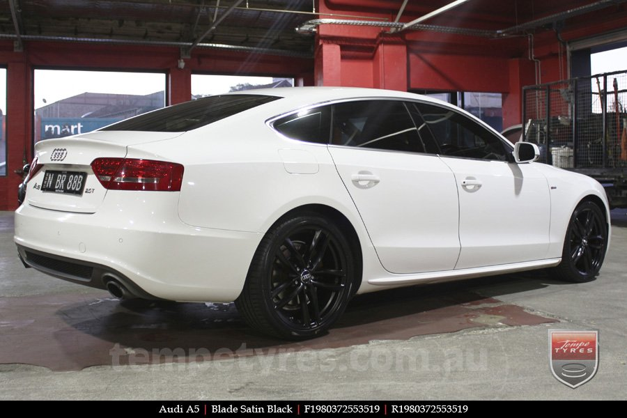 19x8.0 Blade Satin Black on AUDI A5