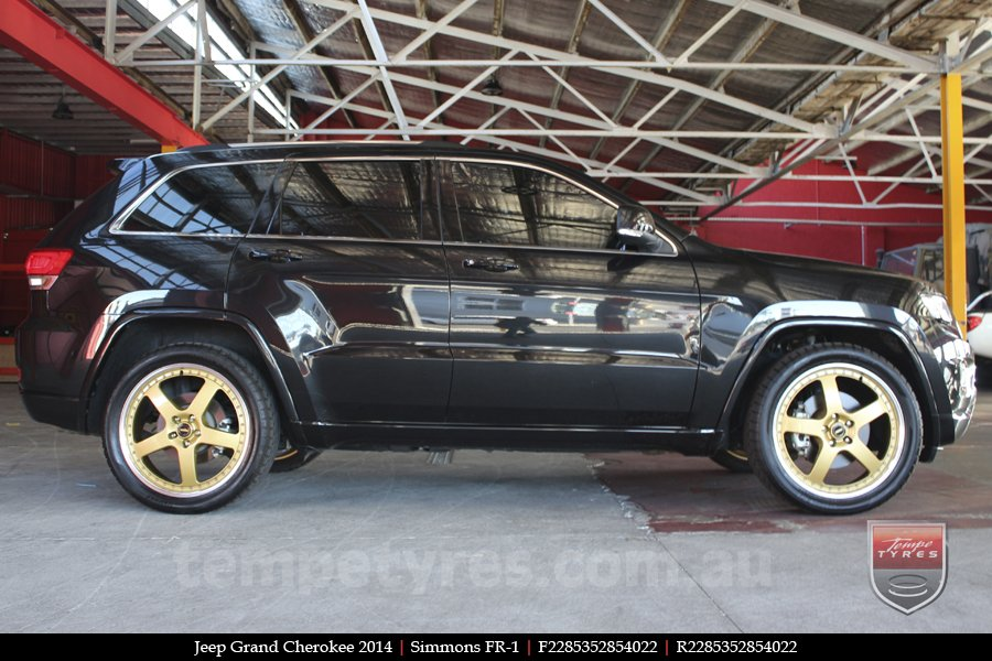 22x8.5 22x9.5 Simmons FR-1 Gold on JEEP GRAND CHEROKEE