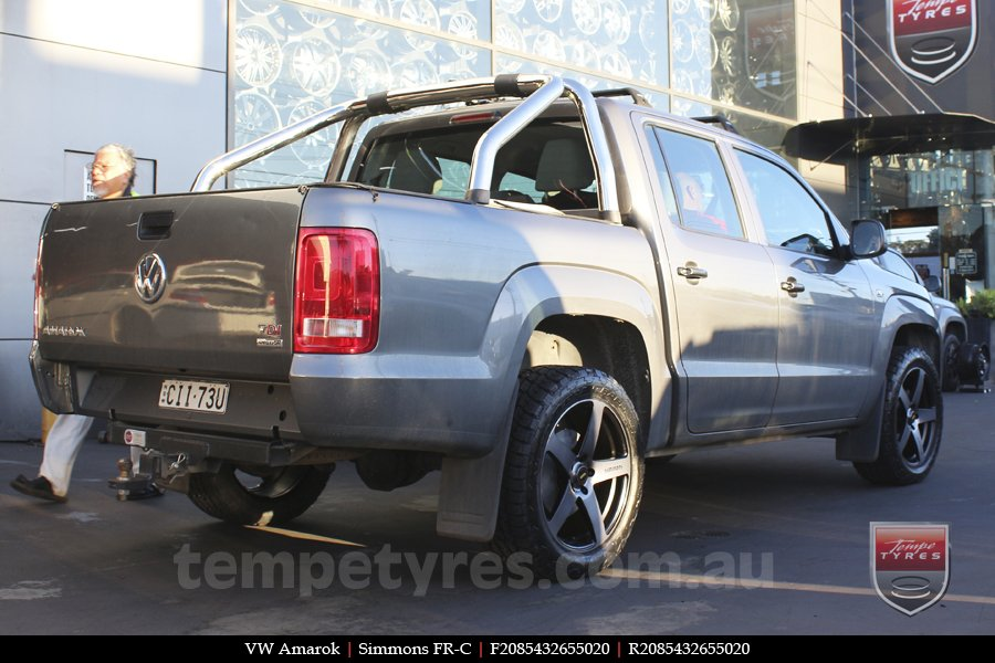 20x8.5 20x10 Simmons FR-C Black Tinted on VW AMAROK