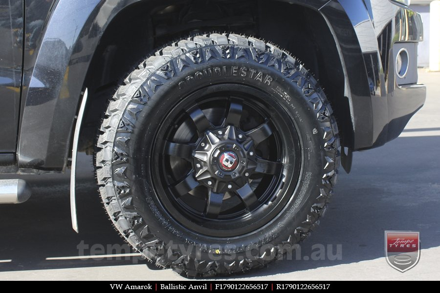 17x9.0 Ballistic Anvil on VW AMAROK