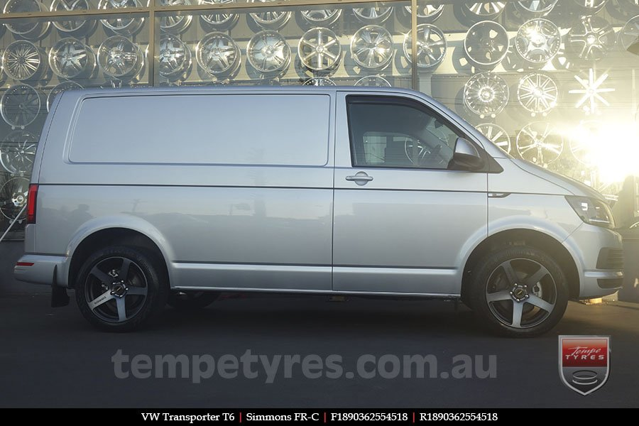 18x8.0 18x9.0 Simmons FR-C Black Tint on VW TRANSPORTER
