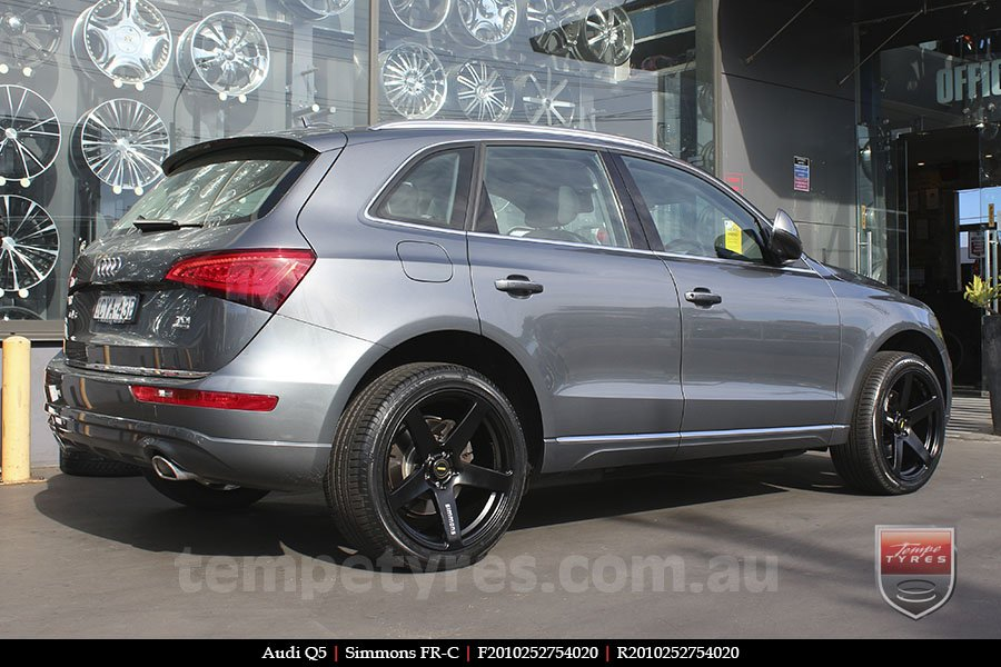 20x8.5 20x10 Simmons FR-C Full Satin Black on AUDI Q5