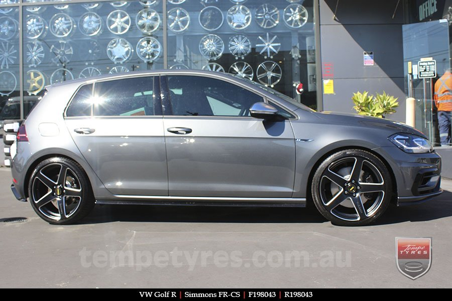 19x8.0 19x9.0 Simmons FR-CS Satin Black NCT on VW GOLF R