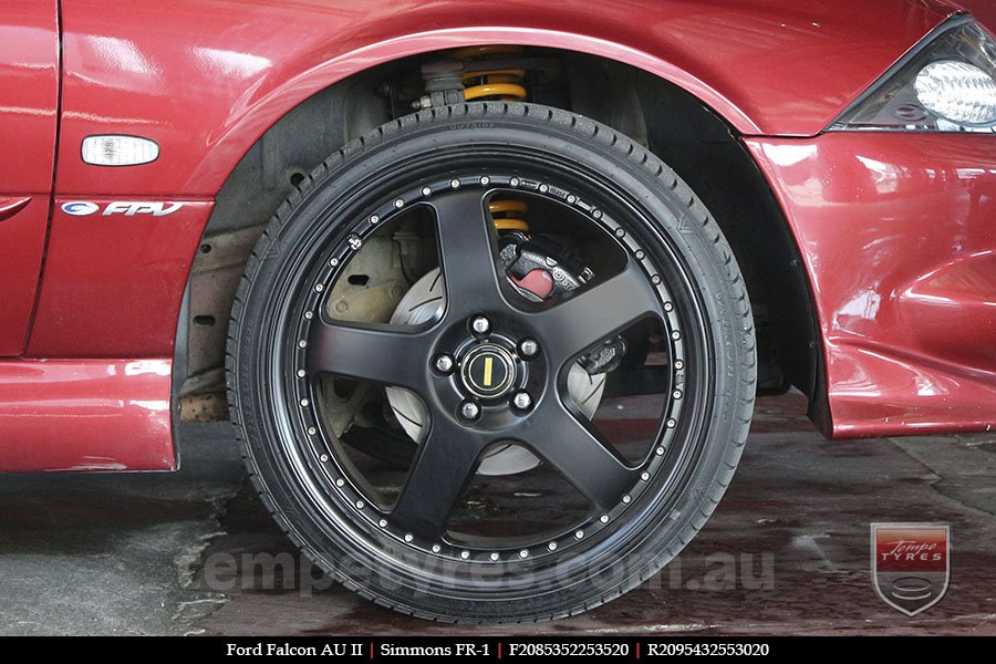 20x8.5 20x9.5 Simmons FR-1 Satin Black on FORD FALCON