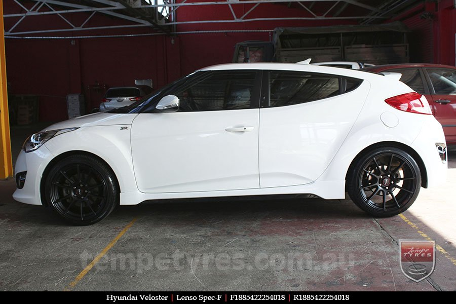 18x8.5 Lenso Spec F MB on HYUNDAI VELOSTER