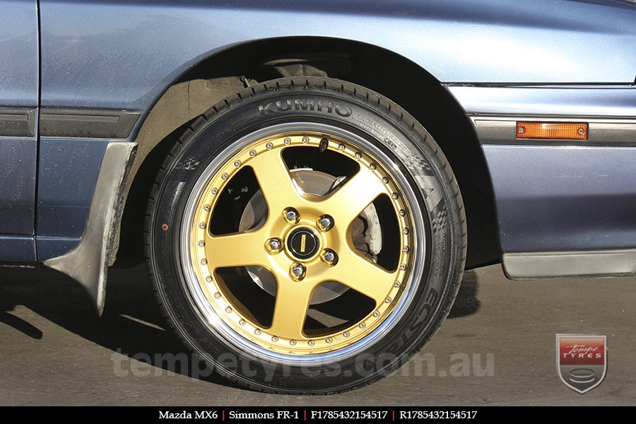 17x8.5 17x9.5 Simmons FR-1 Gold on MAZDA MX6