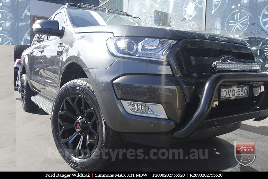 20x9.0 Simmons MAX X11 MBW on FORD RANGER WILDTRAK