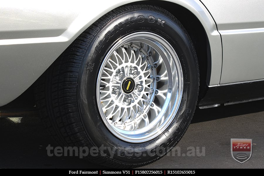 15x8.0 15x10 Simmons V51 SM on FORD FAIRMONT