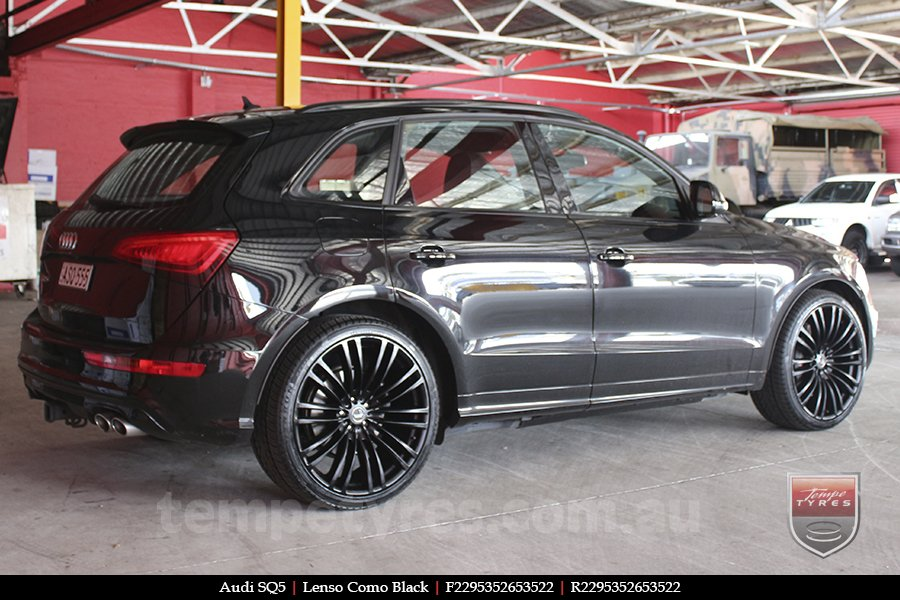 22x9.5 Lenso Como Black on AUDI SQ5