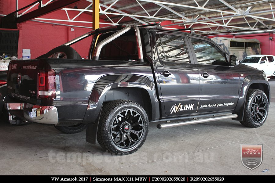 20x9.0 Simmons MAX X11 MBW on VW AMAROK