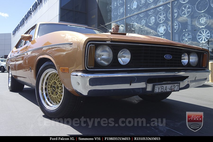 15x8.0 15x10 Simmons V51 GBM on FORD FALCON