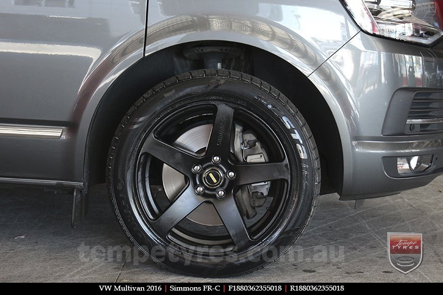 18x8.0 18x9.0 Simmons FR-C Matte Black NCT on VW MULTIVAN