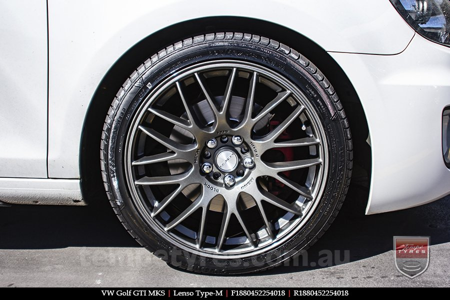 18x8.0 Lenso Type-M DG on VW GOLF GTI