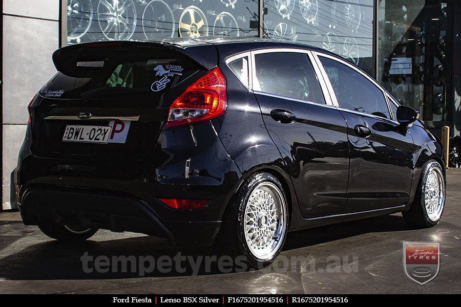 16x7.5 Lenso BSX Silver on FORD FIESTA