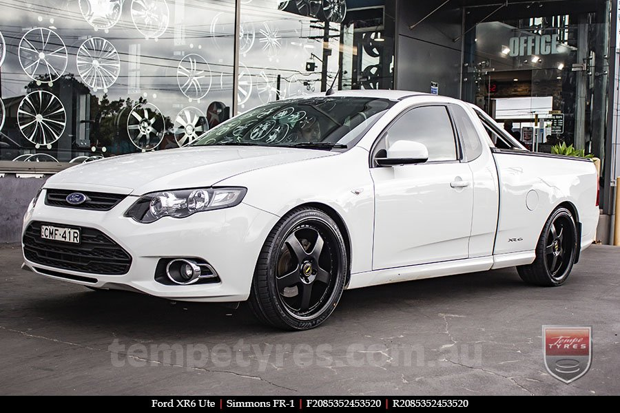 20x8.5 20x9.5 Simmons FR-1 Satin Black on FORD XR6