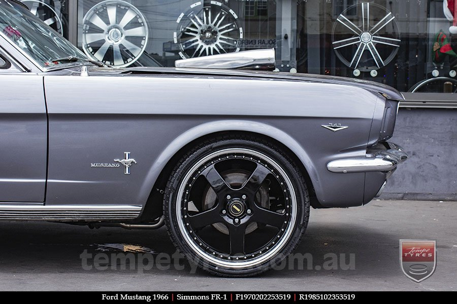19x7.0 19x8.5 Simmons FR-1 Gloss Black on FORD MUSTANG
