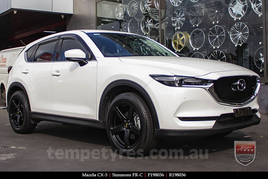 19x8.0 19x9.0 Simmons FR-C Matte Black on MAZDA CX5