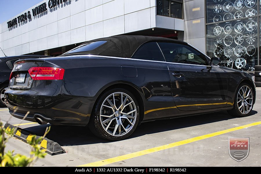 19x8.5 1332 AU1332 Dark Grey on AUDI A5