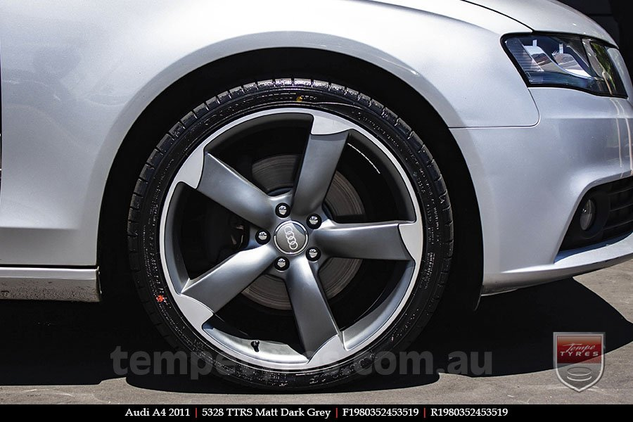 19x8.0 5328 TTRS Matt Dark Grey on AUDI A4
