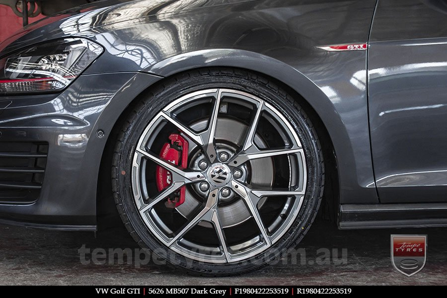19x8.0 19x9.0 5626 MB507 Dark Grey on VW GOLF