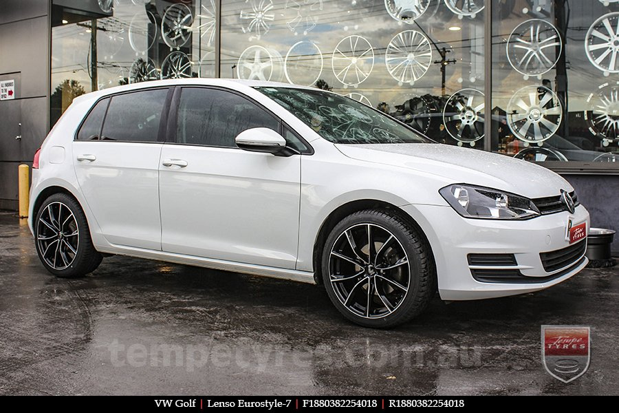 18x8.0 Lenso Eurostyle E ESE on VW GOLF